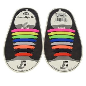 Unisex No Tie Silicon Shoelaces