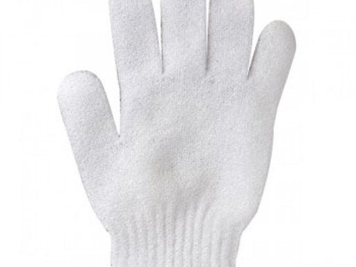 Glove white exfoliating 1 pair ID #3760 - Warehouse Beauty