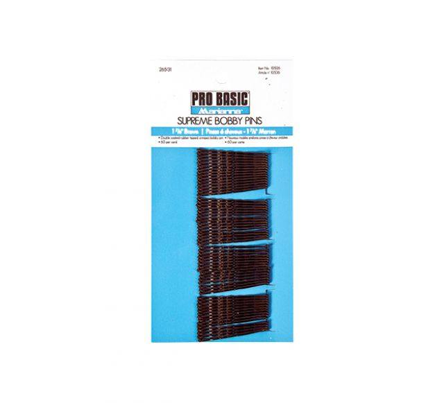 Bobby pins brown 60 / CD / 12 CD Box Card - Warehouse Beauty