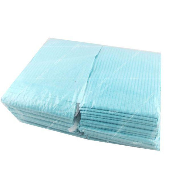 3-Ply Blue Dental Bibs 13'' x 18''  30pcs/pk - Warehouse Beauty