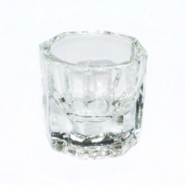 0.5 oz glass cup quantity 1 dappen dish - Warehouse Beauty