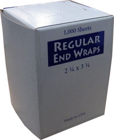 2.25 X 3.25 WHITE BOX Regular End Wraps - Warehouse Beauty