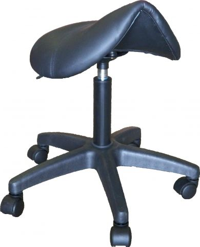 BS04 Saddle Stool Black - Warehouse Beauty