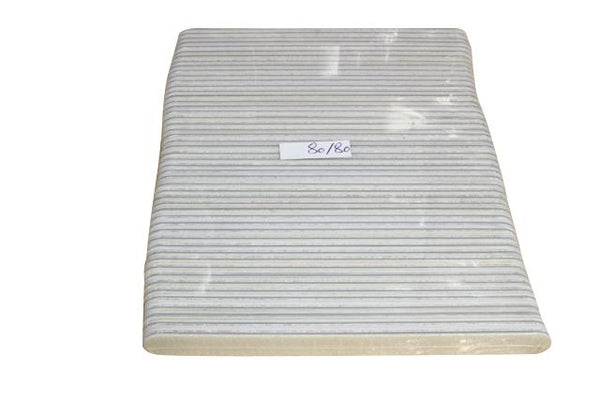 80/80 WHITE Extra Coarse Files 50 ID #526 - Warehouse Beauty