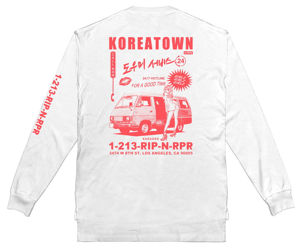 Good Times HOTLINE Long Sleeve - WHITE