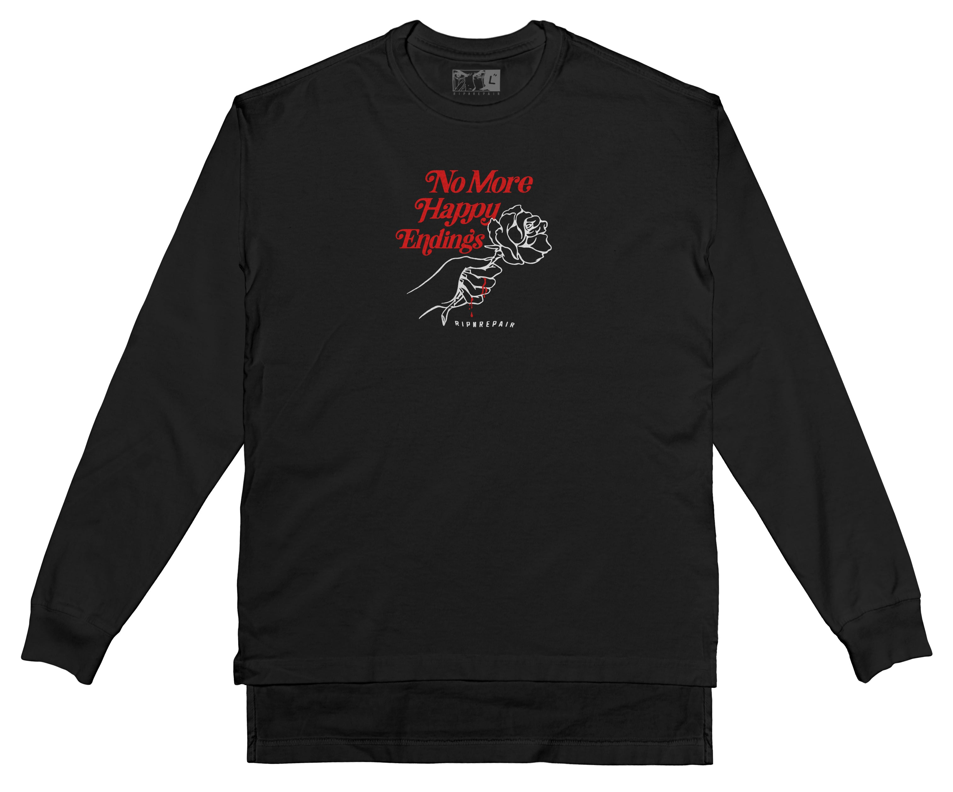 No More Happy Endings Long Sleeve - BLACK