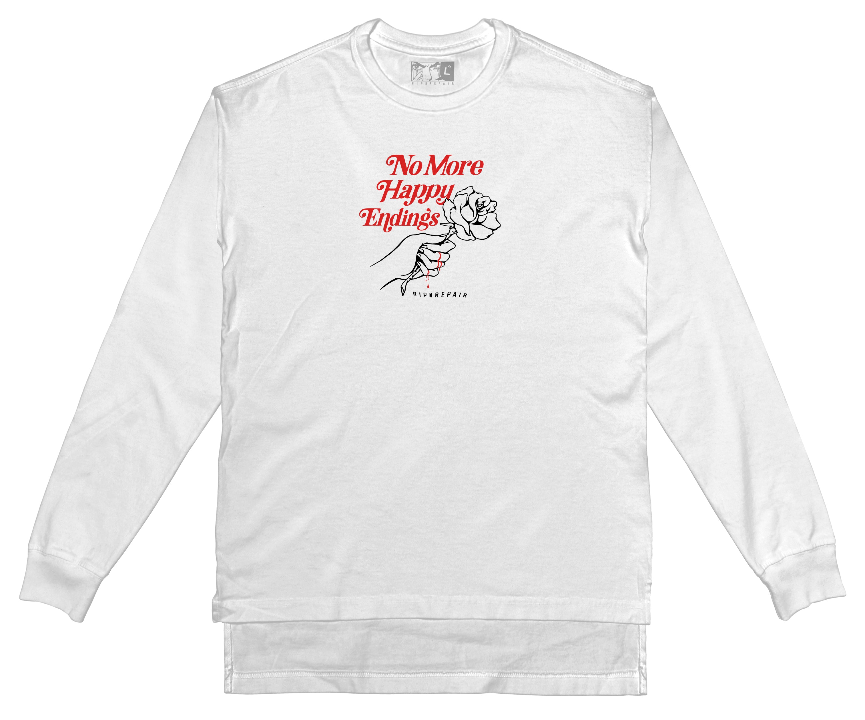 No More Happy Endings - Long Sleeve (WHITE) - RIPNRPR