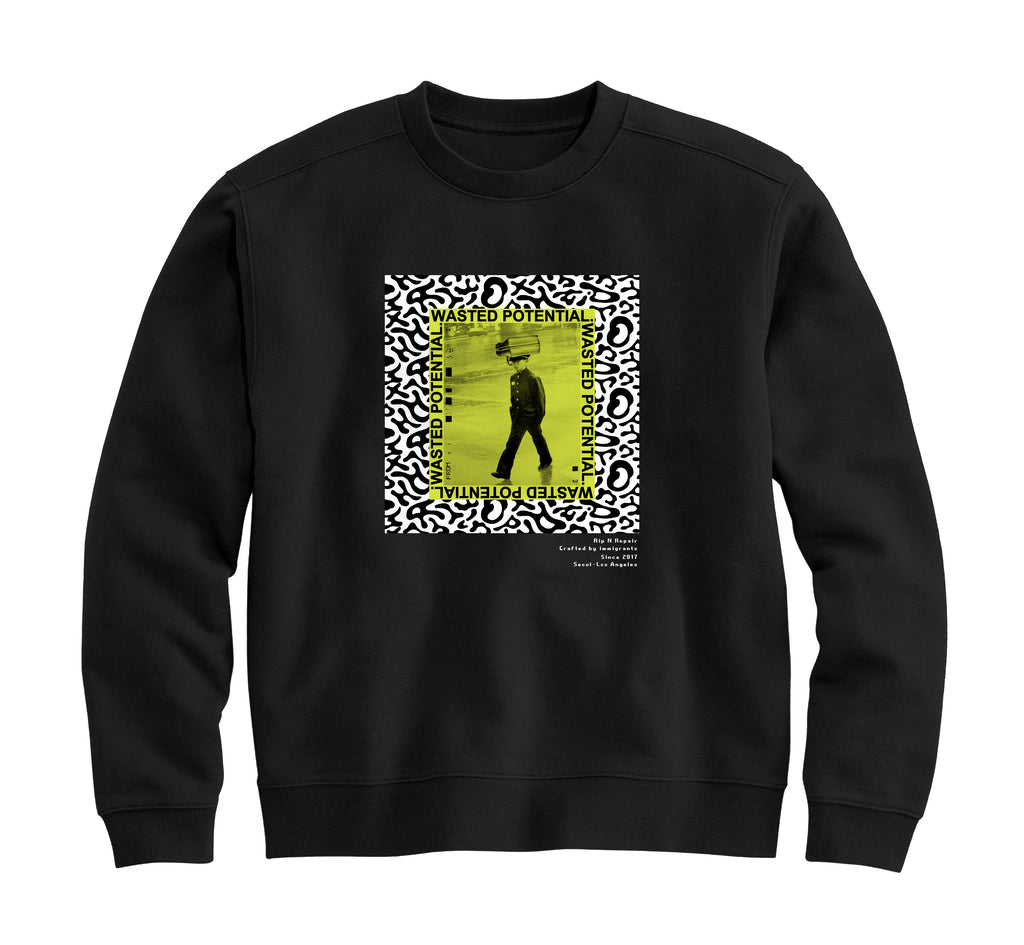 Wasted Youth - Crewneck Sweatshirt (Black)
