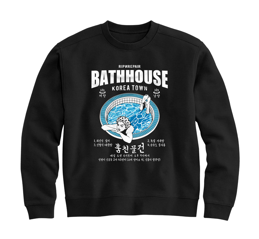 BATHHOUSE - Crewneck Sweatshirt (Black) - RIPNRPR