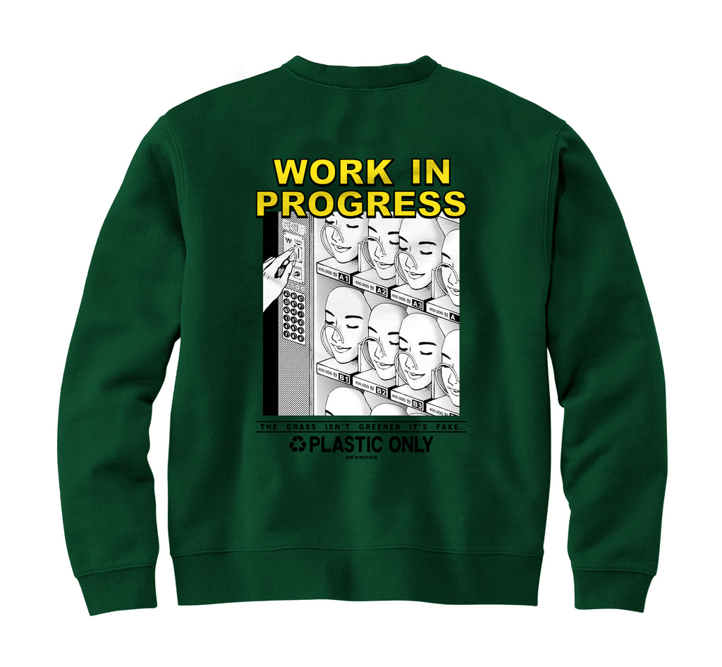 WORK IN PROGRESS - Crewneck (Pine)