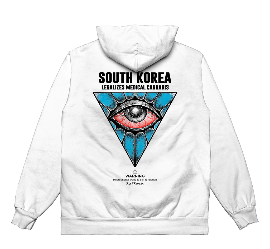 All Seeing Eye UV - HOODIE (White) - RIPNRPR