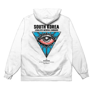 All Seeing Eye UV - HOODIE (White)