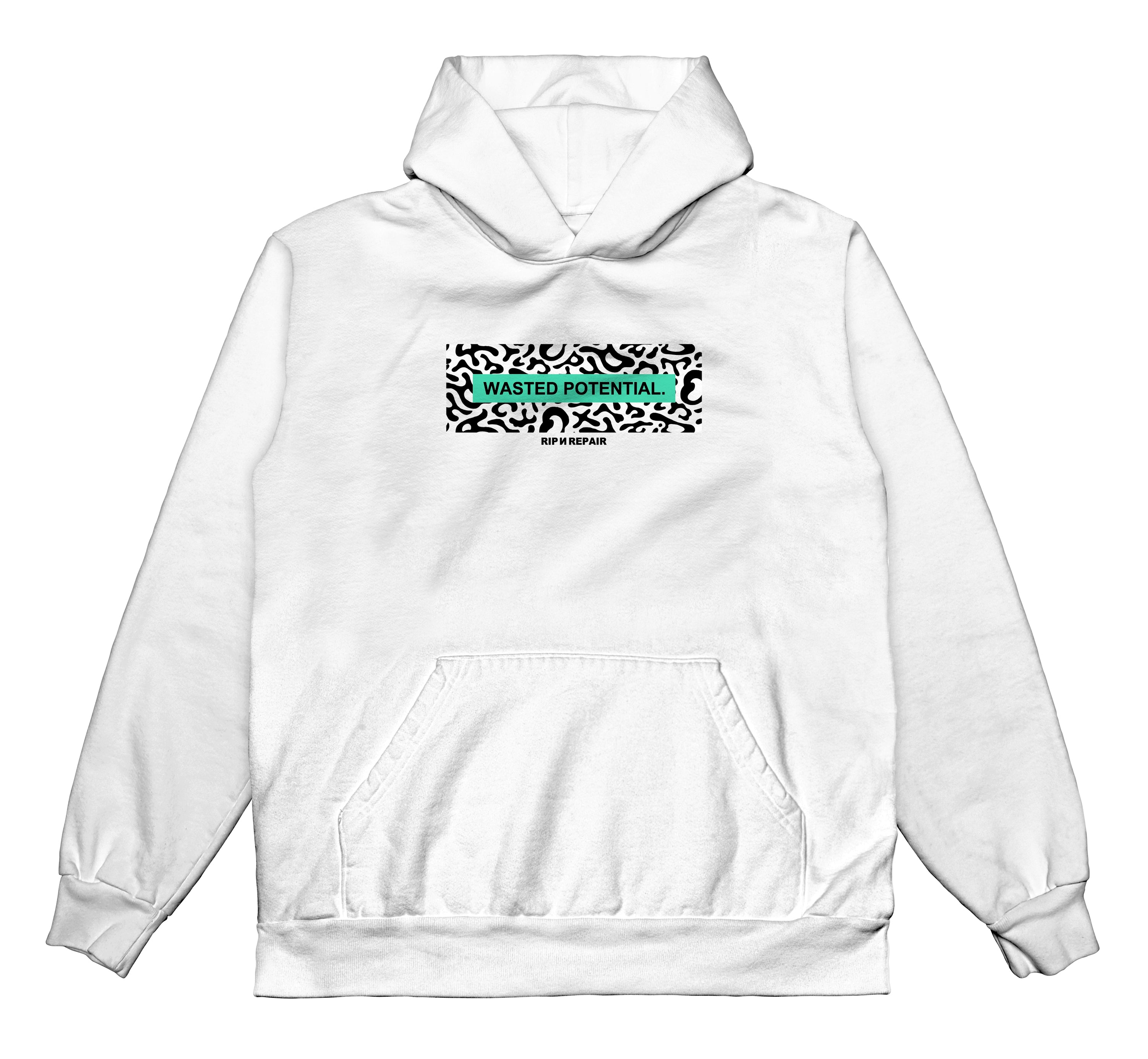 Wasted Youth - Hoodie (White) - RIPNRPR