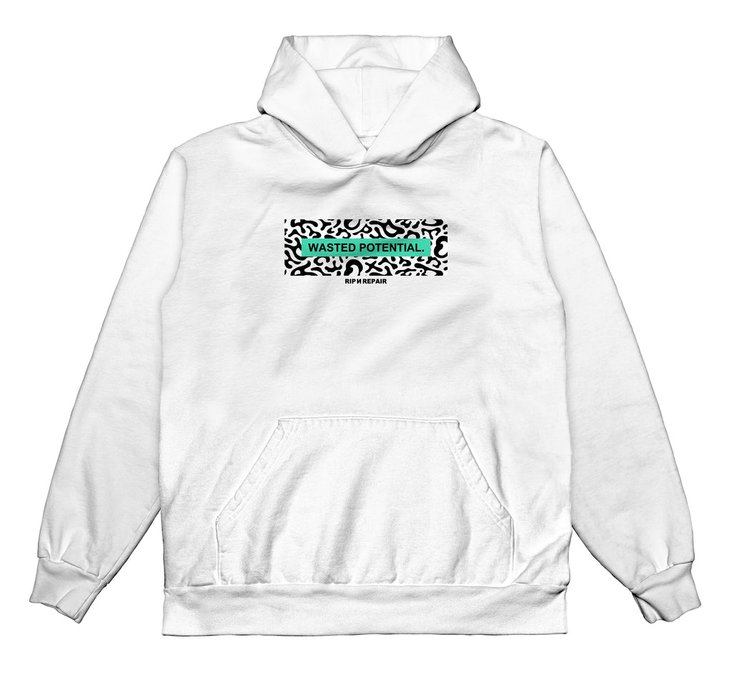 Wasted Youth - Hoodie (White)