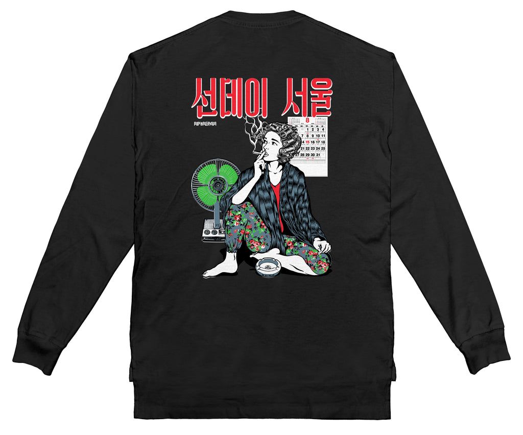 SUNDAY SEOUL - Long sleeve (Black) - RIPNRPR