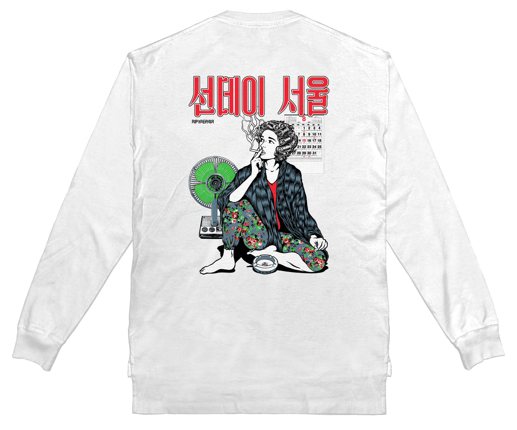 SUNDAY SEOUL - Long sleeve (White) - RIPNRPR