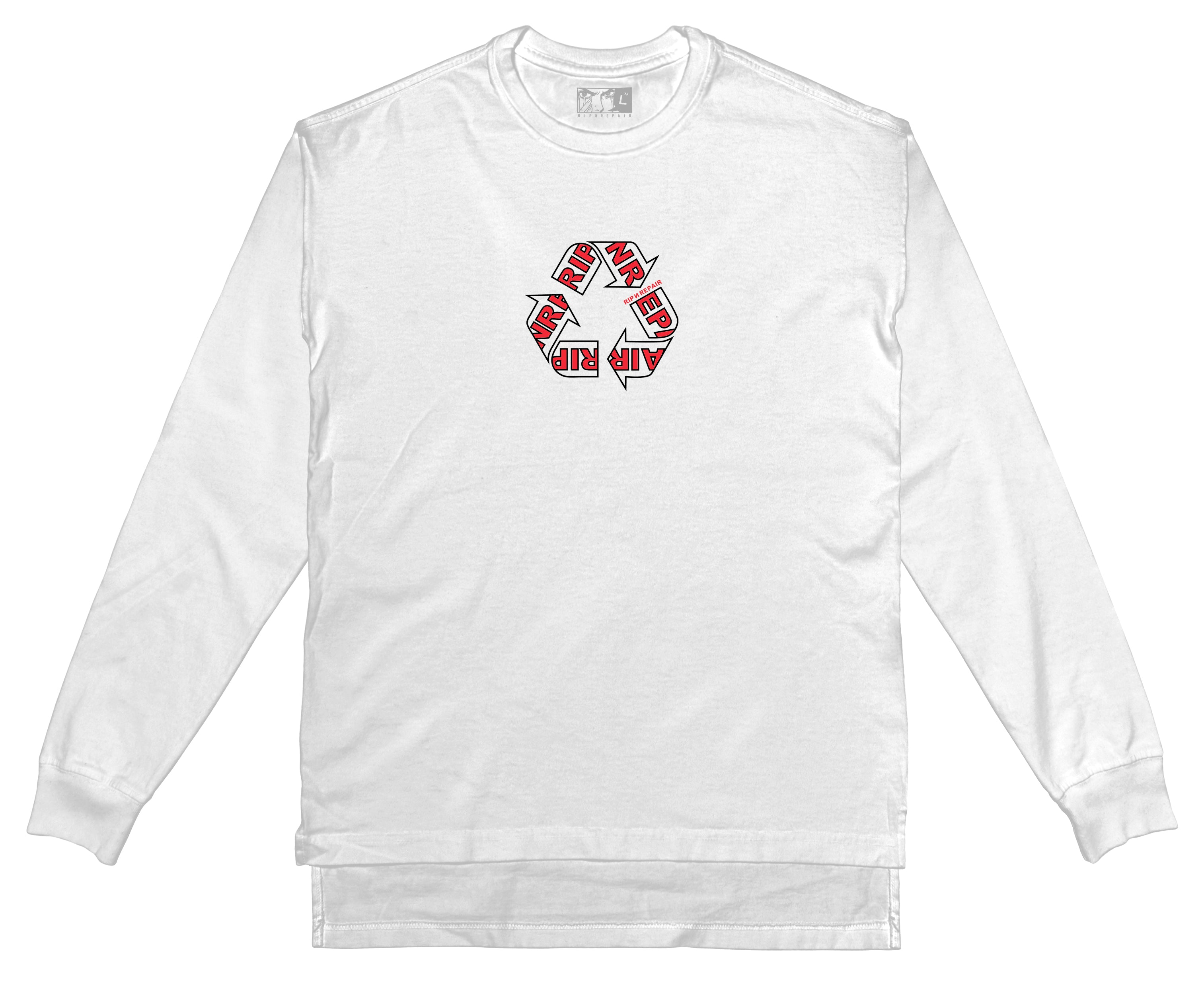 WIP - Long sleeve T-Shirt (White) - RIPNRPR