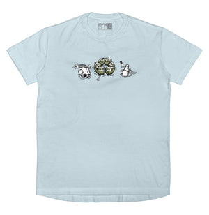 WASTE MANAGEMENT - T-Shirt (Ocean Blue) - RIPNRPR