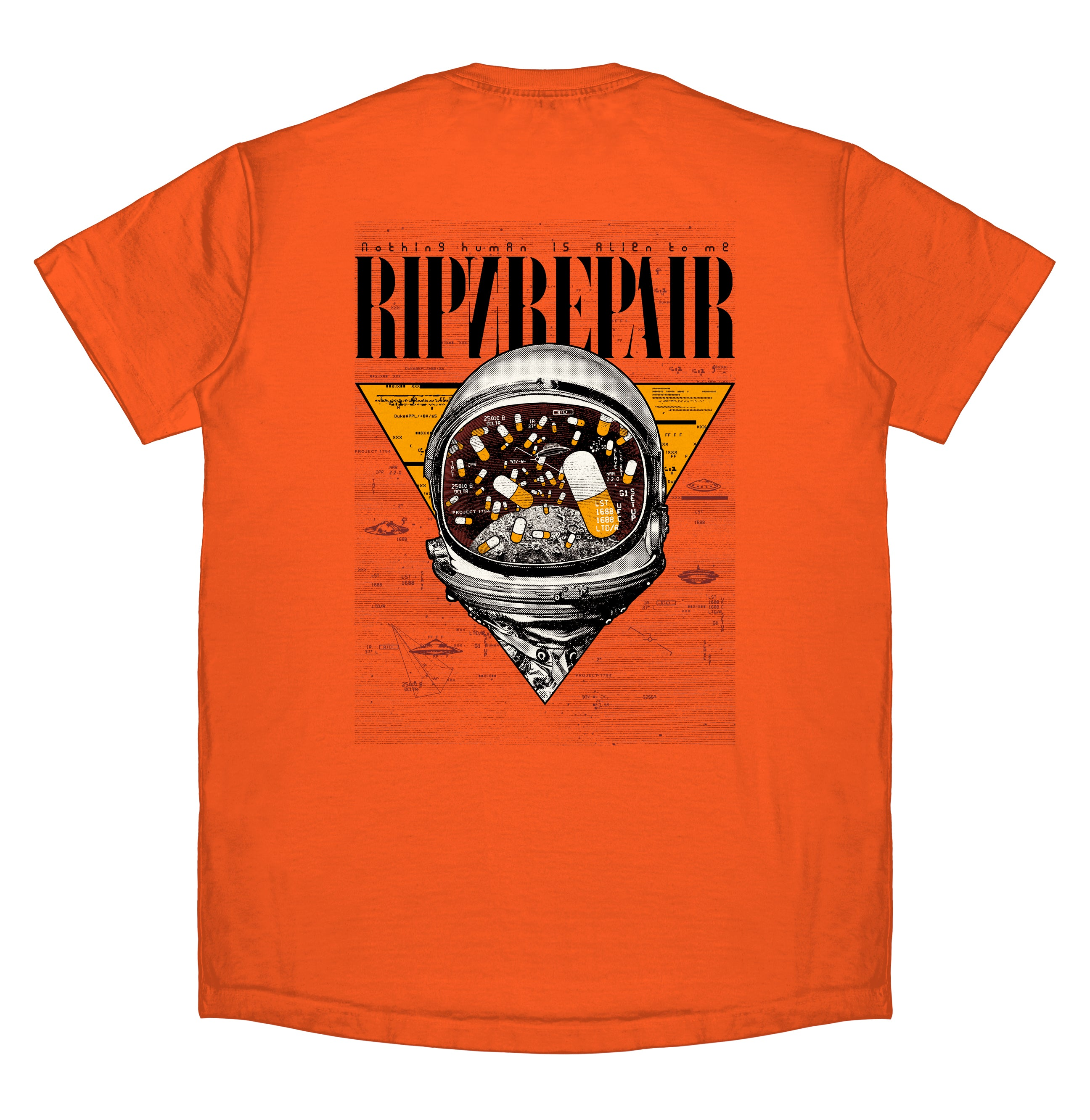 My Space - T-Shirt (Orange) - RIPNRPR