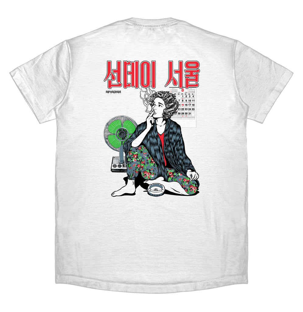 Sunday Seoul - T-Shirt (White) - RIPNRPR
