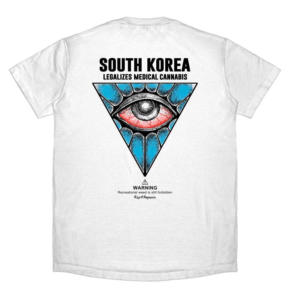 All Seeing Eye UV - T-Shirt (White) - RIPNRPR