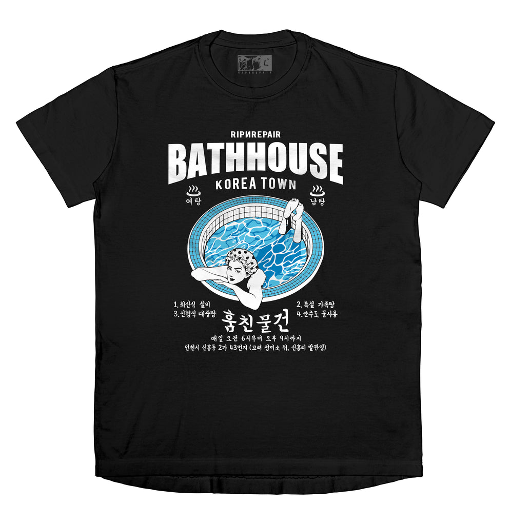 BATHHOUSE - T-Shirt (Black) - RIPNRPR