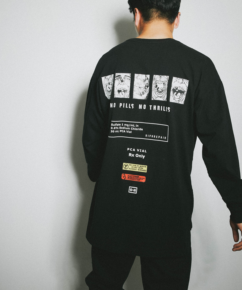 Highs & Lows Long sleeve - BLACK