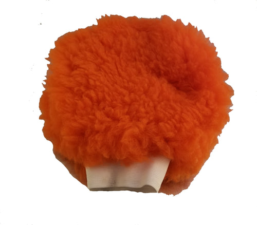 Round Large Size Orange Wash Mitt