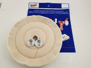 "Buffing Wheel Cushion Sewn Cotton, 1"" Thick - Available in 4"", 6"", 8"" & 10"" Diameters"