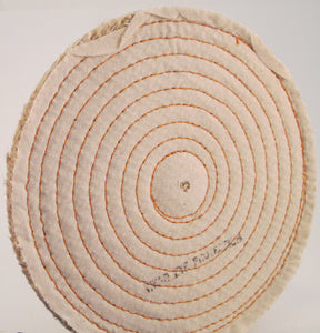 "Buffing Wheel Sisal With Spiral Sewn ½"" thick - Available in 4"", 6"", 8"" & 10"" Diameters"