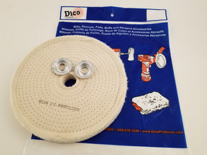 "Buffing Wheel Spiral Sewn Cotton, 1"" Thick - Available in 4"", 6"", 8"" & 10"" Diameters"