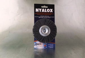 "Nyalox 4"" Wheel Brush with 1/4"" Mandrel"
