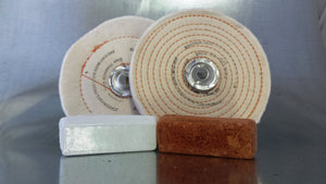 "Buffing Kit 6"" diameter for Copper, Brass, Aluminum & Soft Metals - 7500023"
