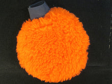 Wash Mitt: Orange with white elastic cuff