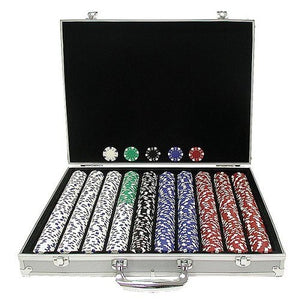 1000 Chip Poker Set with Aluminum Case
