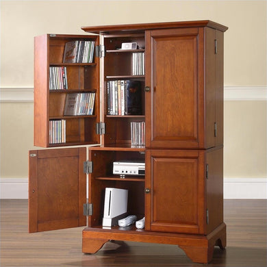 LaFayette Media Stroage and Gaming Cabinet in Classic Cherry