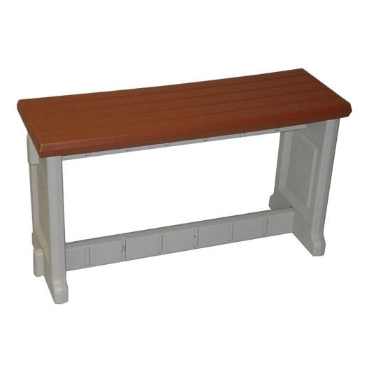 36-inch Plastic Outdoor Garden Picnic Bench with Redwood Color Seat
