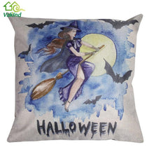 45cm * 45cm  witch Dark Pattern Cotton Pillow Cushion Cover  Halloween Cushion Cover Throw Pillow Case for Chair Cover