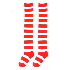 JECKSION Striped THIGH HIGH SOCKS Over Knee Girls Womens Halloween Cosplay&209