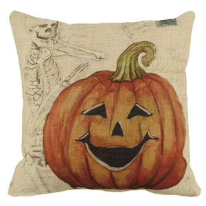 Halloween Pumpkin Square Pillow Cover Case  Pillowcase Zipper Closure pillowcase for the pillow 45*45