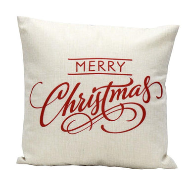 Super Deal Christmas Letter Sofa Bed Home Decoration Festival Pillow Case Cushion Cover
