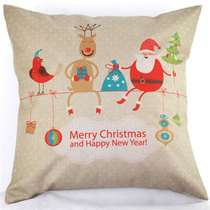 Super Deal Vintage Christmas Sofa Bed Home Decor Pillow Case Cushion Cover