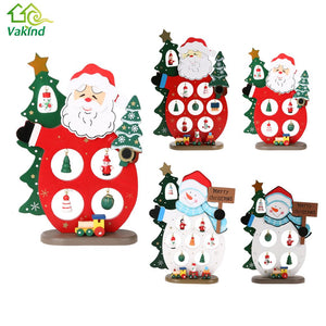 Wooden Christmas Decoration Snowman Santa Claus Xmas Tree Ornaments Navidad Decorations for Home New Year Party Supplies