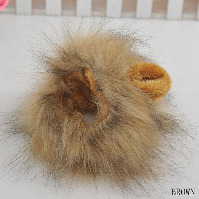 1 pc Lovely Pet Costume Lions Mane Winter Warm Wig Cat Halloween Christmas Party Dress Up