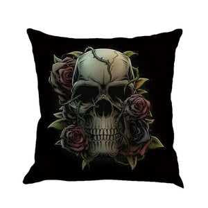 45*45cm Halloween mexican sugar skull cushion Cover decorative throw pillow sofa home decor almofada cojines decorativos