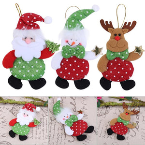 1Pc Christmas Ornaments Santa Claus Pendant Holiday Festival Party Home Decor Navidad Decoracion Christmas Decoration