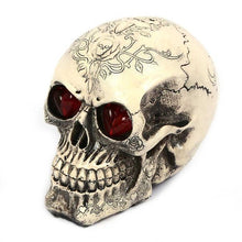 3 Patterns Skeleton Decoration Emulational Human Head Glowing Red Eyes Trick-playing Decoration for Halloween Parties New Hot