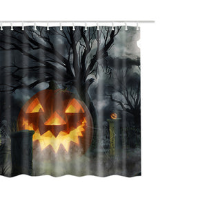 Happy Halloween Waterproof Polyester Fabric Shower Curtain