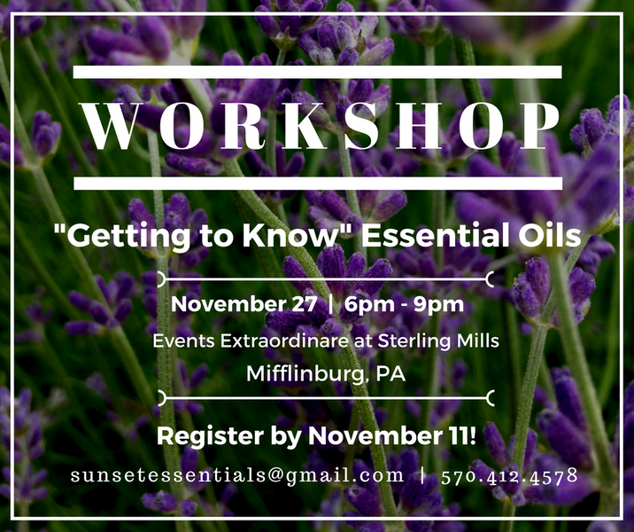 (Event) - Getting to Know Essential Oils Workshop - Nov 27