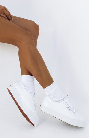 Superga 2730 NAPPA Leather Sneaker White
